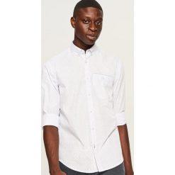 Koszula slim fit w drobny wzór - Biały. Białe koszule męskie slim marki Reserved, l. Za 89,99 zł.