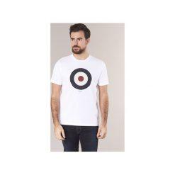 T-shirty z krótkim rękawem Ben Sherman  TARGET T-SHIRT. Białe t-shirty męskie marki Ben Sherman, l. Za 149,00 zł.