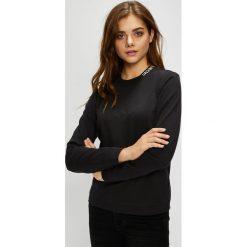 Calvin Klein Jeans - Bluza. Czarne bluzy rozpinane damskie Calvin Klein Jeans, l, z bawełny, bez kaptura. Za 249,90 zł.