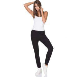 Spodnie dresowe damskie: Czarne Spodnie Dresowe z Elastycznym Pasem