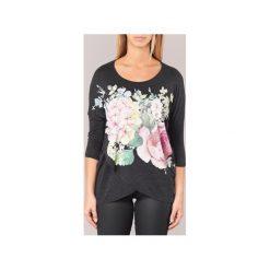 T-shirty z długim rękawem Desigual  T. Czarne t-shirty damskie Desigual, l. Za 194,30 zł.