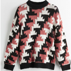 Sweter z wełną merino ReDesign - Wielobarwn. Brązowe swetry klasyczne damskie Reserved, m, z wełny. Za 239,99 zł.