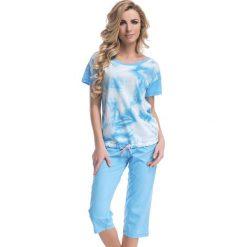 Piżamy damskie: Piżama w kolorze niebieskim