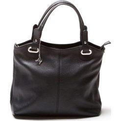 Torebki klasyczne damskie: Skórzana torebka w kolorze czarnym – 39 x 28 x 13 cm