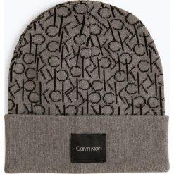 Calvin Klein - Czapka damska, szary. Szare czapki damskie marki Calvin Klein, z bawełny. Za 179,95 zł.
