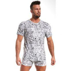 Męski T-shirt CORNETTE Emotion Garden. Niebieskie t-shirty męskie z nadrukiem marki Astratex, z bawełny. Za 51,00 zł.