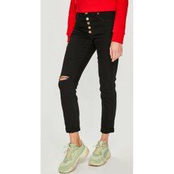 Diesel - Jeansy Babhila-B. Czarne jeansy damskie rurki Diesel, z bawełny. Za 769,90 zł.