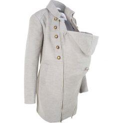 Płaszcze damskie pastelowe: Płaszcz ciążowy z wstawką niemowlęcą bonprix jasnoszary melanż