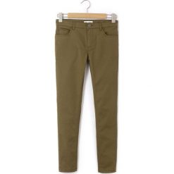 Spodnie slim, cygaretki. Brązowe spodnie chłopięce La Redoute Collections, z bawełny, z standardowym stanem. Za 62,96 zł.
