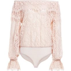 Bluzki asymetryczne: PERSEVERANCE LONDON PEACOCK DOILY LACE BODY Bluzka flesh pink