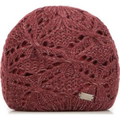 Czapka damska 87-HF-005-2. Czerwone czapki zimowe damskie Wittchen, z dzianiny. Za 59,00 zł.