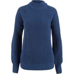 Swetry klasyczne damskie: Sweter ze stójką bonprix kobaltowy