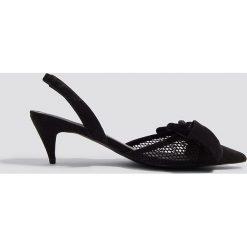 Buty ślubne damskie: NA-KD Shoes Czółenka z siateczki - Black