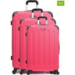 """Walizki: Walizki (3 szt.) """"Madrid"""" w kolorze różowym"""