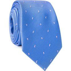 Krawat KWNR001775. Niebieskie krawaty męskie Giacomo Conti, paisley, z mikrofibry. Za 69,00 zł.