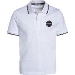 Bluzki dziewczęce bawełniane: BOSS Kidswear LOGO RUND Koszulka polo weiß