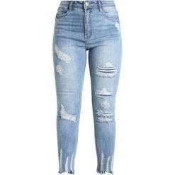 Missguided Tall SINNER HIGHWAISTED AUTHENTIC Jeans Skinny Fit blue. Niebieskie boyfriendy damskie Missguided Tall. Za 149,00 zł.