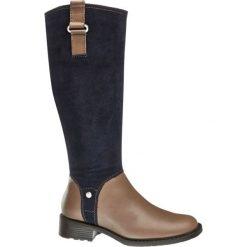 Kozaki damskie 5th Avenue granatowe. Brązowe buty zimowe damskie marki 5th Avenue, z materiału, na obcasie. Za 319,90 zł.
