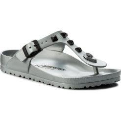 Chodaki damskie: Japonki BIRKENSTOCK - Gizeh 1007069 Studded Silver