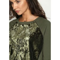 Bluzy damskie: Khaki Bluza Front Fin
