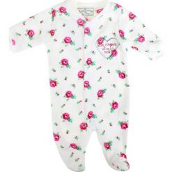 Pajacyki niemowlęce: Śpioszki w kolorze białym