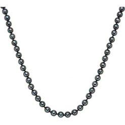 Biżuteria i zegarki: Naszyjnik z pereł w kolorze antracytowym – dł. 45 cm