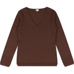 Sweter kaszmirowy w kolorze brązowym. Brązowe swetry klasyczne damskie marki Ateliers de la Maille, z kaszmiru. W wyprzedaży za 363,95 zł.