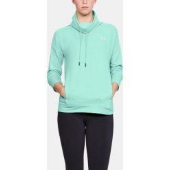 Bluzy sportowe damskie: Under Armour Bluza damska Featherweight Fleece Funnel  zielona r. XS (1305498-703)