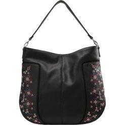 New Look EMBROIDERY RACHEL HOBO Torba na zakupy black. Czarne shopper bag damskie marki New Look, z materiału, na obcasie. Za 129,00 zł.