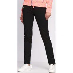 Spodnie damskie: Czarno-Koralowe Spodnie Dresowe On My Own