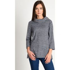 Bluzki damskie: Bluzka w pepitkę z półgolfem QUIOSQUE