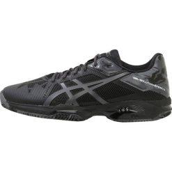 ASICS GELSOLUTION SPEED 3 CLAY Obuwie do tenisa Outdoor black/dark grey/carbon. Czarne buty do tenisa męskie Asics, z materiału. W wyprzedaży za 527,20 zł.