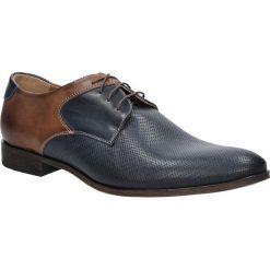 Granatowe buty wizytowe skórzane sznurowane granat palony DUO MEN 00737E-03-L-P-010. Czarne buty wizytowe męskie Duo Men, na sznurówki. Za 238,99 zł.