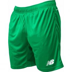 Spodenki treningowe EMS6130JGN. Zielone spodenki sportowe męskie New Balance, m, z materiału, do piłki nożnej. Za 79,99 zł.