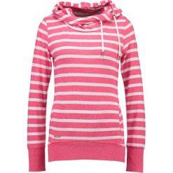 Bluzy rozpinane damskie: Ragwear BEAT Bluza z kapturem raspberry