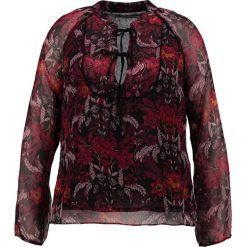 Bluzki asymetryczne: Glamorous Curve Bluzka burgundy winter floral