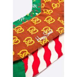 Happy Socks - Skarpetki Xmas (3-pack). Białe skarpetki męskie Happy Socks, z bawełny. W wyprzedaży za 79,90 zł.