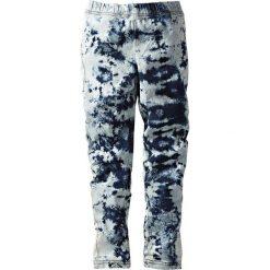 Legginsy dżinsowe bonprix batikowy niebieski stone. Niebieskie legginsy dziewczęce bonprix. Za 37,99 zł.