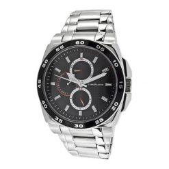 """Zegarki męskie: Zegarek """"CAP-1103212.A"""" w kolorze srebrno-czarnym"""