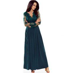 Zielona Wieczorowa Sukienka Maxi z Koronkową Górą. Zielone długie sukienki Molly.pl, na imprezę, l, z koronki, eleganckie. Za 368,90 zł.