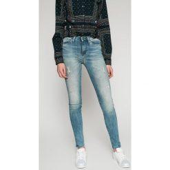 Tommy Hilfiger - Jeansy Como. Niebieskie jeansy damskie marki TOMMY HILFIGER, z bawełny. W wyprzedaży za 429,90 zł.