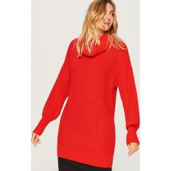 Sweter z golfem - Czerwony. Czerwone golfy damskie Reserved, l. Za 99,99 zł.