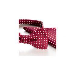 Komplet Mucha wiązana REUS bordo +poszetka +spinki do mankietów. Czerwone muchy męskie HisOutfit, z materiału, wizytowe. Za 149,00 zł.