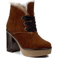 Botki BALDININI - 818101A83SCRUS4145 Bruno. Brązowe buty zimowe damskie Baldinini, ze skóry, na obcasie. W wyprzedaży za 1279,00 zł.
