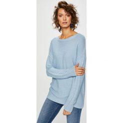 Medicine - Sweter Basic. Szare swetry klasyczne damskie MEDICINE, m, z bawełny, z okrągłym kołnierzem. Za 79,90 zł.
