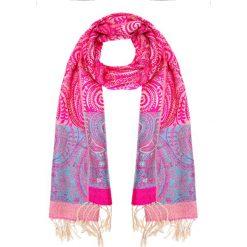 Różowo-niebieska apaszka ze wzorem QUIOSQUE. Czerwone apaszki damskie QUIOSQUE, z bawełny. W wyprzedaży za 19,99 zł.