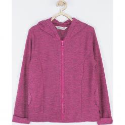 Bluza. Czerwone bluzy dziewczęce rozpinane marki PRETTY GIRL, z aplikacjami, z dresówki, z kapturem. Za 89,90 zł.