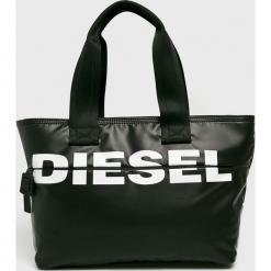 Diesel - Torebka. Czarne torebki klasyczne damskie Diesel, z materiału, duże. Za 549,90 zł.