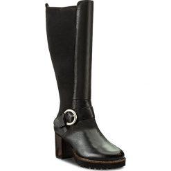 Kozaki CALLAGHAN - Dublin 21905  Negro. Czarne buty zimowe damskie Callaghan, z materiału, przed kolano, na wysokim obcasie. W wyprzedaży za 409,00 zł.