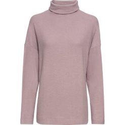 Golfy damskie: Miękki sweter z golfem bonprix matowy bez